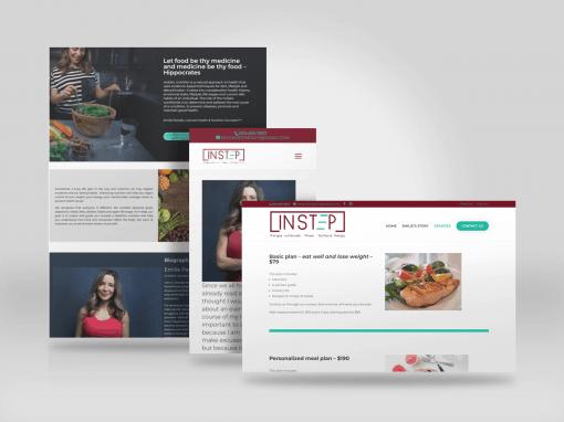 Holistic Nutrition Website Design