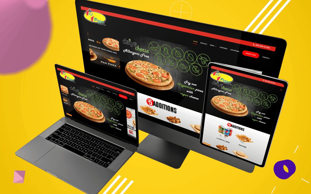 1 for 1 Pizza Ottawa Website Design
