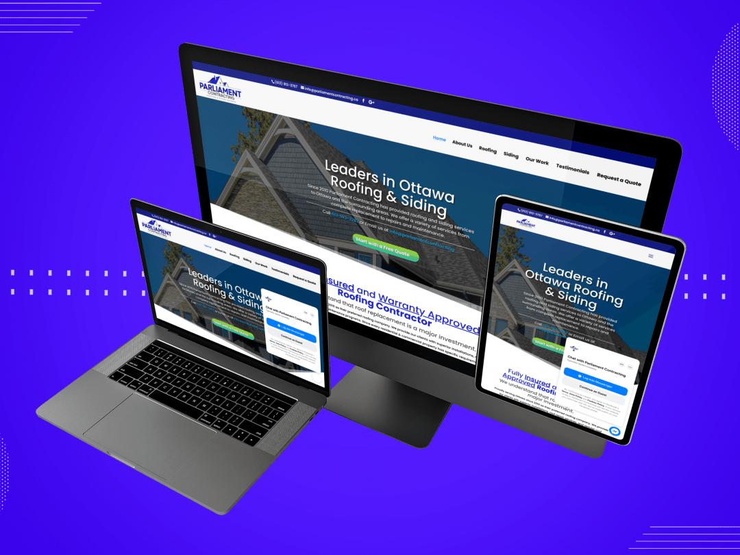 Parliament Contracting Ottawa Website Design